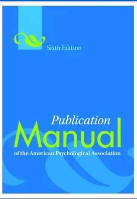 Publication Manual of the American Psychological Association (APA) PDF eb00k New