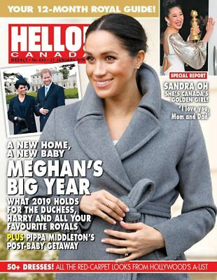 Hello Canada Magazine Meghan's Big Year Brand NEW  #643 Jan. 2019 Royal Guide