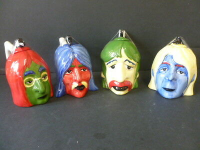 Lorna Bailey Full Set Of Four Beatles Head Teapots Signed Amazing!!