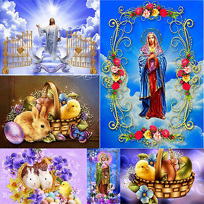 5D DIY Full Drill Diamond Painting Easter Cross Stitch Embroidery Kit Decor Gift