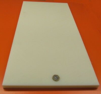 ".500/"" X 12/"" X 24/"" Natural Color Nylon Plastic Sheet Slab Plate"