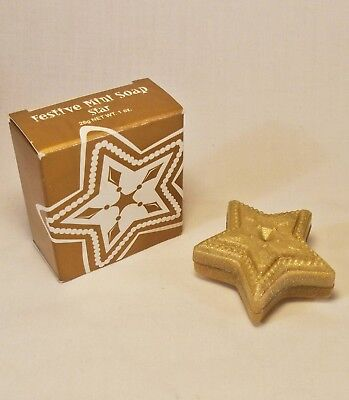 AVON CHRISTMAS STAR Mini Holiday GUEST HAND BAR SOAP Gold w/ Sparkles NEW IN BOX