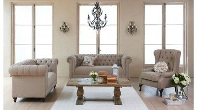 French Style Sofas and Coffee Table Bundle (Also Sold Seperate) 1 Item Sold