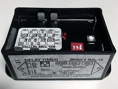AC/DC Industries MZL-10 Ignition Sensing Delay Timer / Fuse Panel 12V 30A