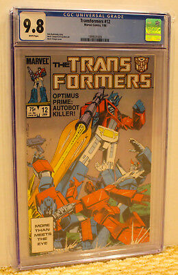 Marvel Transformers 12 Cgc 9.8 Wp Optimus Prime Add 3+ Slabs No Extra Ship Cost