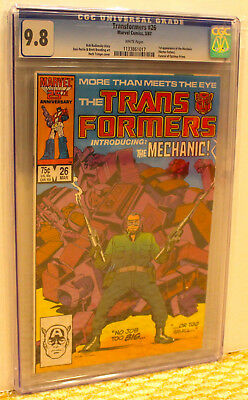 Marvel Transformers 26 Cgc 9.8 Wp*optimus Prime Funeral*slabs No Extra Ship Cost