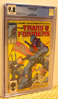 Marvel Transformers 32 Cgc 9.8 Wp Nm/mt**movie**add 3+ Slabs No Extra Ship Cost