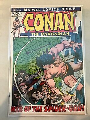 Conan the Barbarian #13 (Jan 1972, Marvel) White/Off-White Pages