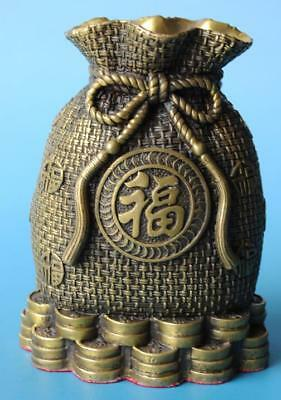 Chinese old copper hand-carved saving pot statue e02