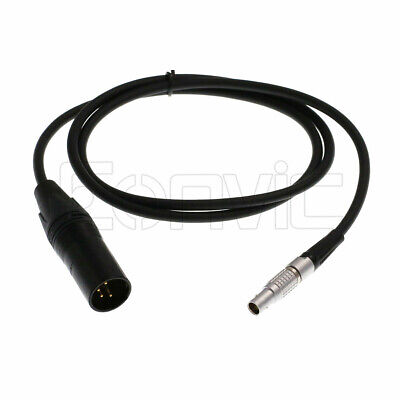 Uonecn LBUS Cable ARRI Camera Lens Motor Line Right Angle 4 pin Male to Straight 4 pin Male Cable for Arri LBUS FIZ MDR Wireless Focus CFORCE Lens Motor Cable