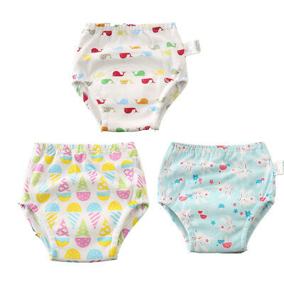 Baby Toddler Toliet Potty Training Pants 100% Cotton 6laye Underwear Soft 3 Pack