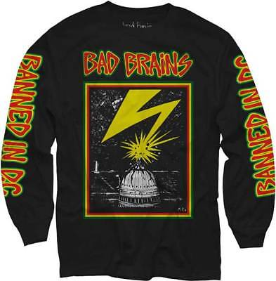 BAD BRAINS Capitol Blk Long Sleeve T SHIRT S-M-L-XL-2XL New Official MerchDirect