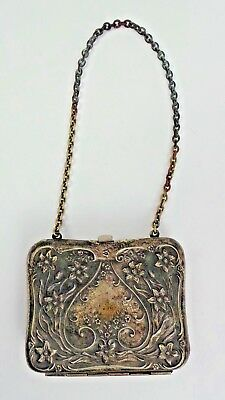 Victorian Sterling Silver Calling Dance Card Purse