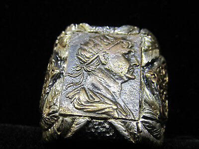 Authentic Ancient Roman Imperial Caesar Trajan Mens ring!