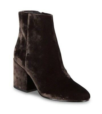 1fa4107e987c49 NWT Sam Edelman Ankle Boots Size 9 Tayla Dark Brown Velvet Round Toe -  Flawed