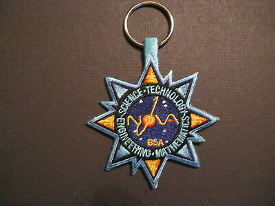 """Boy Scouts  National Scout Jamboree 2017 """" Stem Quest """" Two Sided Key Chain"""