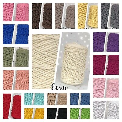 3mm Single Twisted Pipping Cotton Cord String Rope Craft Sewing Macrame Home DIY