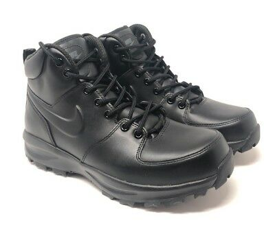 Nike Men's Manoa Black Leather Boots 454350 003 Size: 8