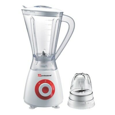 Electric Multi Food Blender & Grinder Smoothie Processor Pulse 2 In1 400W RED