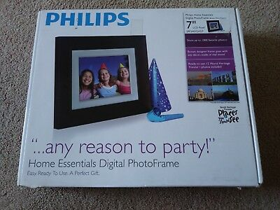 Philips Home Essentials Digital Photo Frame 7 Inch Lcd Spf3407dg7