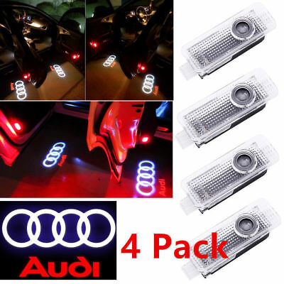 LED Courtesy Door Light Welcome Step Logo Shadow Projector Rings Ghost for Audi*