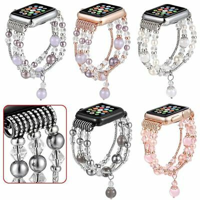 iWatch Agate BLING Beads Strap Bracelet Band For Apple Watch SERIES 4 40mm/44mm