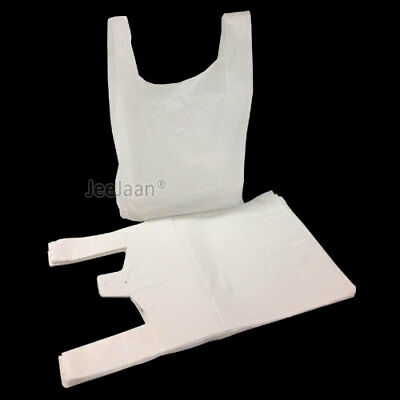 "1000 x STRONG WHITE PLASTIC VEST CARRIER BAGS 10x15x18"" *SPECIAL OFFER*"