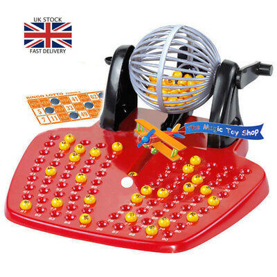 Bingo Lotto Traditional Family Game Play Set with 90 Balls Party Toys Gifts