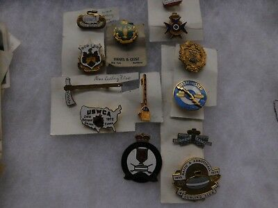 13 Different Womans Curling Pins 1940's - Early 1970's Rccc