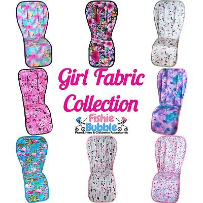 Pram Liners & Strap Covers - Girl Fabric Collection - Universal & Custom Made