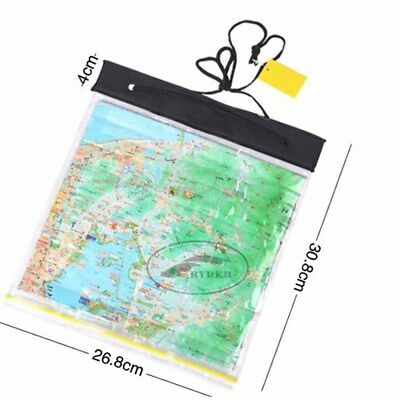 White 1PC Waterproof PVC Transparent Map Case Camping Hiking Case Holder NT5Z