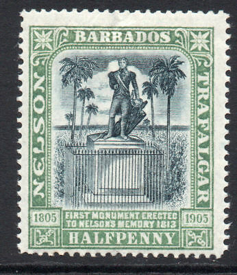 Barbados 1/2 Penny Stamp c1906 Mounted Mint
