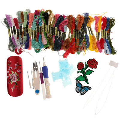 Embroidery Needle Punch Set Pen Tool DIY Craft Stitching Sewing Kit for Kids