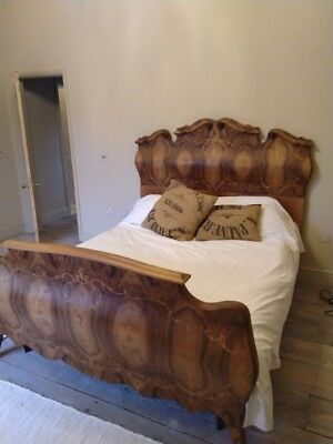 Incredible French 19th Bed with walnut inlay