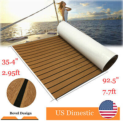 EVA Boat Teak Decking Marine Floor Adhesive Carpet Bevel Edge Brown Accessories