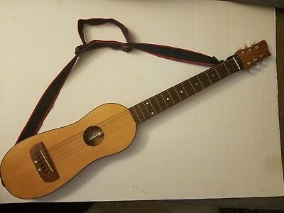 Backpacker Early Winters Travel Guitar. With case & strap. FREE SHIP