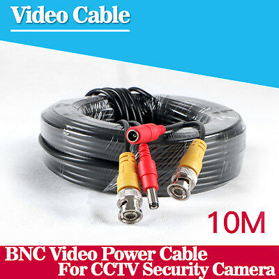 10M 33ft BNC Video DC Power Cable Camera For CCTV Security Surveillance System