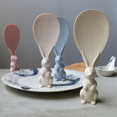 Cute Rabbit Shaped Non Stick Rice Paddle Meal Spoon Rice Scoop Kitchen Tool ZP