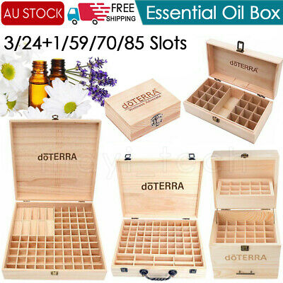 doTERRA  3 Tier Essential Oil Storage Box Wooden Case Wood Container Organizer