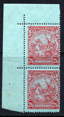Barbados Two 2/6 Stamps c1925-35 Mounted Mint