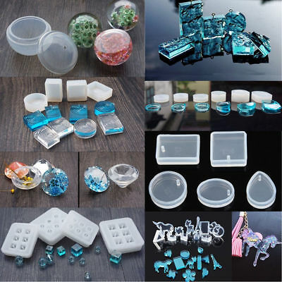 DIY Clear Silicone Casting Mold Making Jewelry Pendant Resin Mould Craft Tools