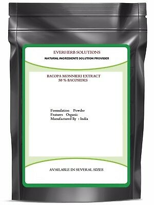 Bacopa Monnieri Extract ( Brahmi)Powder 50% Bacosides (100 %Pure) Free Shipping