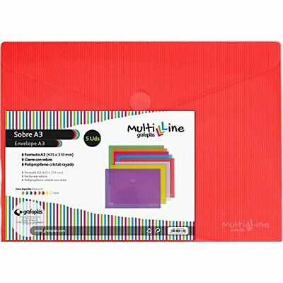Economic grafoplas 4872451Envelopes with Extra Capacity, Red, A3