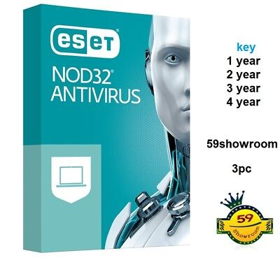 ESET NOD32 Antivirus  /1 KEY  1/2/3/4  year   3pc  for windows / EMAIL DELIVER