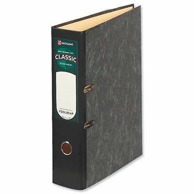 Rexel Classic Lever Arch File Foolscap Black/Green (Packs of 10)