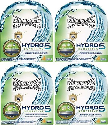 Wilkinson Sword Hydro 5 Sensitive Razor Blades 4 x 4 Packs Mens Shaving Genuine