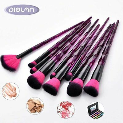 Diolan 10Pcs Pro Makeup Brushes Cosmetic Powder Foundation Eye Make Up Brush Set