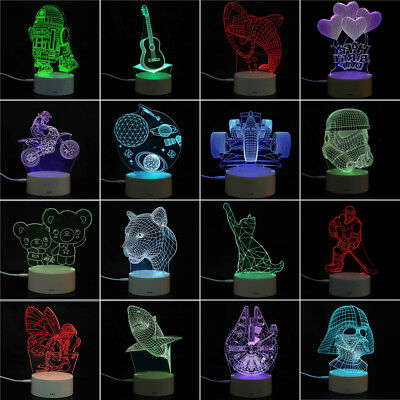 3D Panel Acrylic Board Plate for Color Change LED Night Light Table Lamp Decor