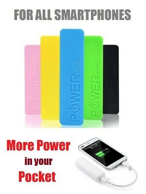 1200mAh POWER BANK PORTABLE USB BATTERY CHARGER FOR iPHONE SAMSUNG MOBILE PHONE