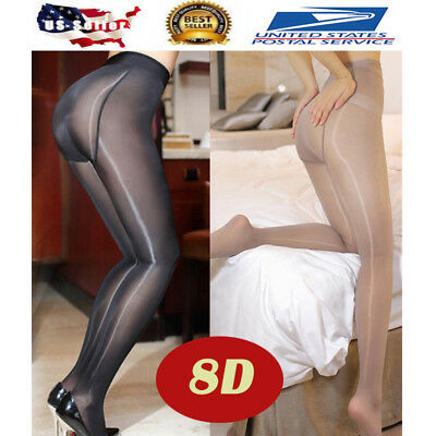 Plus Size Women Sexy Pantyhose 8D Oil Shiny High Glossy Body Stockings Tights